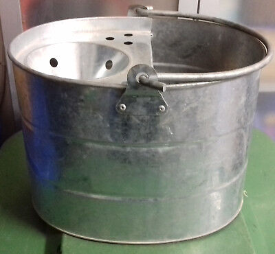 Galvanised Metal Mop Bucket Retro Kitchenalia Garden Planter Display .