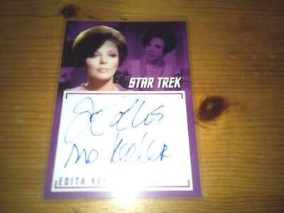 Star Trek Tos The Captain's Collection 2018 Autograph Card Of Joan Collins