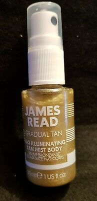 James Read H2O Illuminating Tan Mist Körper Spray Bräuner Haut Neu 30ml