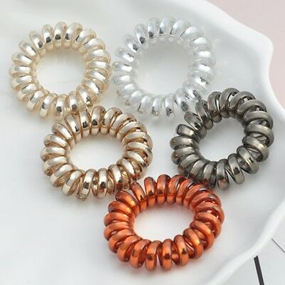5Pcs Spiral Hair Bands Elastics Head Rope Ring Ties Scrunchies Ponytail  Holder e0e43d580fd