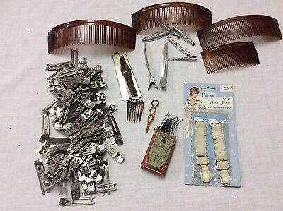 Lot Of Vintage Hair Clips Curlers Pins Combs Lady Ellen Goody Tip Top Liberty