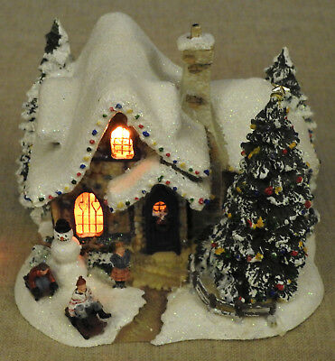 Thomas Kinkade Teleflora Sweetheard Cottage Lighted - 2006
