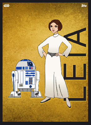 Topps Star Wars Card Trader Forces Of Destiny Heroines Princess Leia 25Cc
