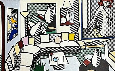 Roy Lichtenstein, Living room 1992, Hand Signed Lithograph A.P.