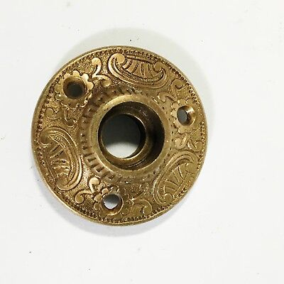 Antique Victorian Eastlake Ornate Door Knob Rosette Solid Bronze