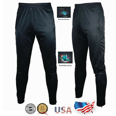 Men's Sport Athletic Soccer Fitness Training Running Casual Pants Trousers men