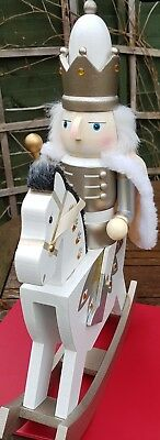 Christmas Nutcracker Soldier King On Rocking Horse New This Year! 40 Cms Bnwt