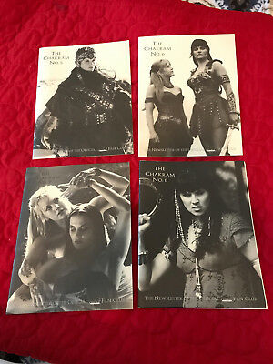 Chakram-Newsletter of the Official Xena Fan Club -# 5, 6, 7, & 8-RARE!!-FREE-S/H