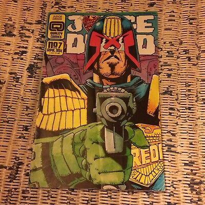 Quality Comics Judge Dredd issue 7 1987 Judge Hershey Steve Dillon Max Normal
