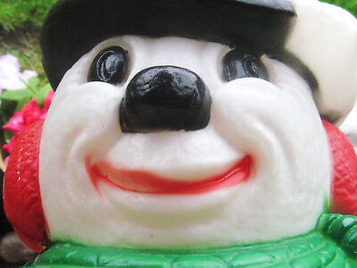 Vintage Snowman Yard Ornament Plastic Tall Light Up Great Face Xmas Look Now