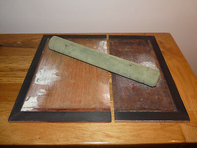 Writing Slope Boards - Ebony Veneered with Green Leather Skiver
