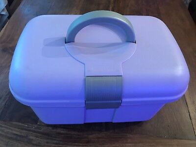 Baby Bathing & Changing Plastic Box Organizer,Lilac, Essentials Storage/Case/Bag