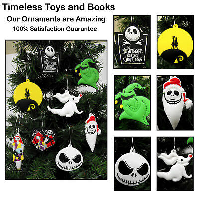 The Nightmare Before Christmas Ornament 8pc Set With Set Jack Oggie Boogie Sally