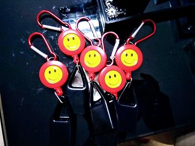 5x Red Universal LIGHTER LEASH KEYCHAIN CLIP RETRACTABLE a F01