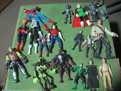 Hasbro/Marvel DC Comics & Others Action Figures Mixed Lot,17 Total Figures,LOOK!