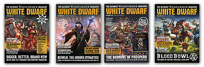 Games Workshop WHITE DWARF MONTHLY Magazine Early Back Issues (2016)