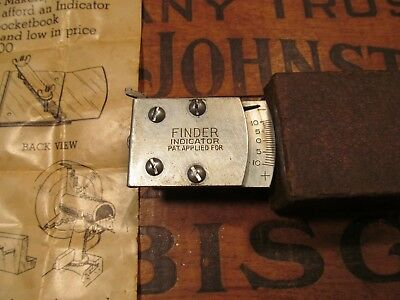 Vtg Finder Mfg Co Finder Indicator w/ Box ~ old antique tool