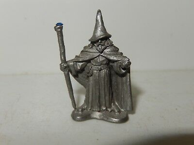 Partha pewter Wizard with Jeweled Staff PP706 D&D