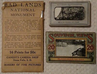 Vintage Souvenir Photos South Dakota - Black Hills, Badlands - 3 complete sets