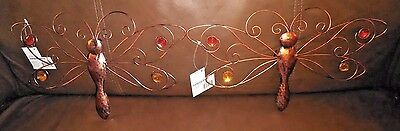 """Indoor/Outdoor Metal Dragon Fly Decoration-13"""" Wing Span-Set of 2"""
