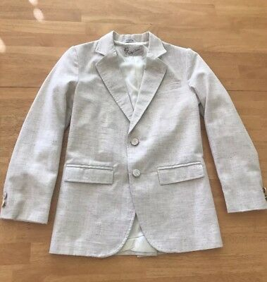 Vintage Oleg Cassini boys tan Blazer Suit Jacket size 12 EUC