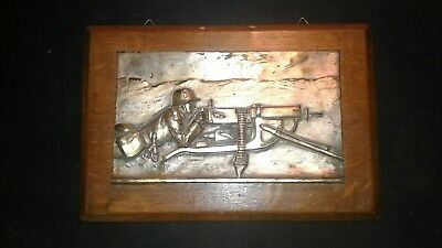GERMAN WWI /WWII MILITARY machine gun  PLAQUE Maxim