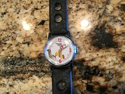 Vintage Ronald McDonald Railroad wind-up Watch