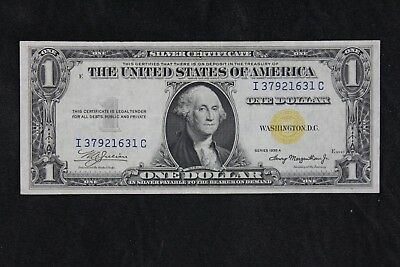 $1 1935A North Africa yellow seal silver cert. I37921631C one dollar, FREE SHIP.