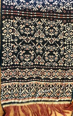Antique Warp Ikat Selandang Roti Indonesia Natural Dyes