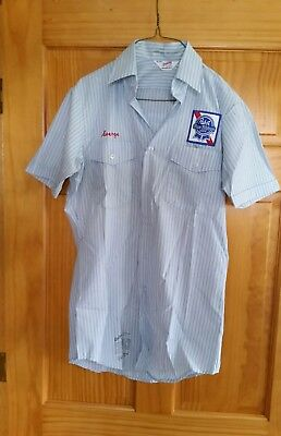 Vintage Never Worn Pabst Blue Ribbon Beer Delivery Shirt Size Small 14-14 1/2.