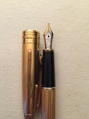Montblanc Meisterstuck 4810 14K Gold Plated Barley Fountain Pen - Nice!
