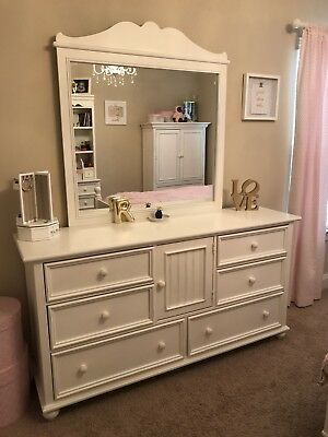 Stanley Furniture Young America White Dresser And Mirror