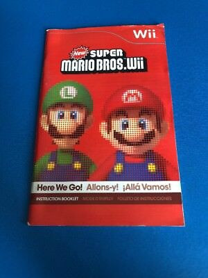 New Super Mario Bros Wii Nintendo Wii Original MANUAL ONLY Instruction Booklet B