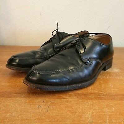 Iron Age Steel Toe Vintage 60s Mens 8.5 Black Leather Executive Work Dress Shoes
