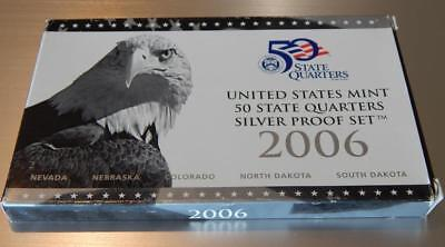 2006-S  State  Quarters  SILVER Proof Set 5 piece set NIB with COA