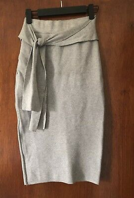 SHEIKE Grey Knit Skirt XS RRP$109.95 NEW CONDITION