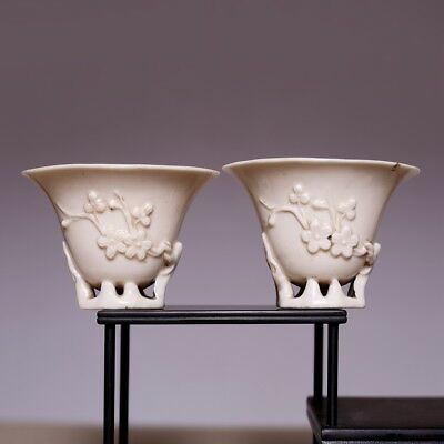 Pair of Chinese Dehua libation Old Tea Cups,Qing dynasty 17th-18th century,SN31