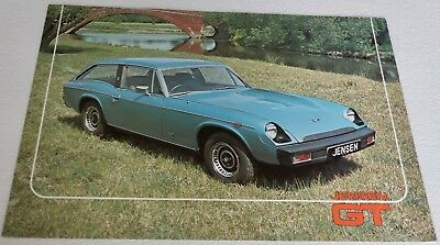 1975 JENSEN GT SALES BROCHURE Printed in England Color Photos & Specs 4 pages