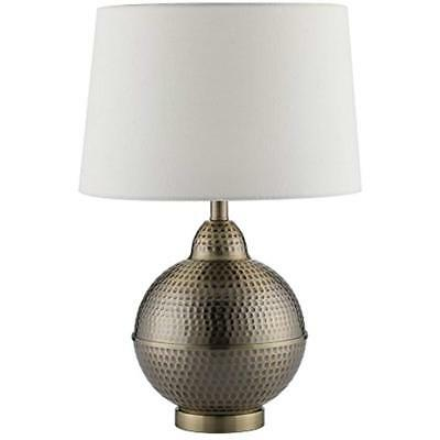 Table Lamps CO-Z Contemporary Lamps, White Shade With Handcrafted Hammered Pot &