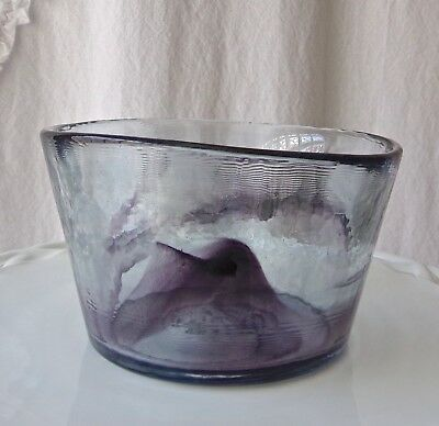 Kosta Boda Purple Art Glass MINE Bowl Ulrica Hydman Vallien