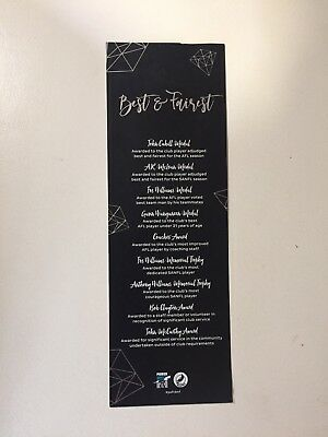Port Adelaide football club AFL Best And Fairest Awards Program/menu Collectable