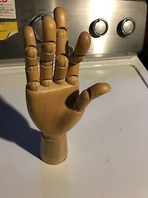 Wooden Posable Hand Medical Training Tool