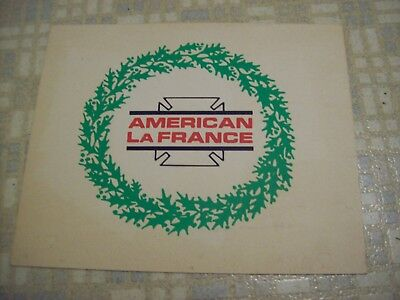 Vintage American LaFrance cardboard sign from there Elmira NY factory 10 x 13