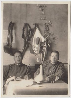 p13 WWⅡ Japanese army Photo soldiers in barracks China battlefield