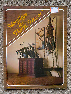 Vintage Macrame for Home Decor- 1976 -see pics for projects
