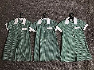 PSW and Primary schoolwear X3 Bottle Green school summer dresses Size 6G