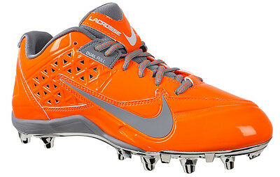 NEW Nike Womens SPEEDLAX 4 sz 13 ORANGE SILVER Lacrosse Football Shoes Cleats