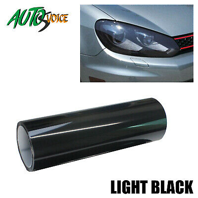 Smoke LIGHT BLACK Headlight Tint Auto Head Fog Tail Light Protects Film 120x30CM