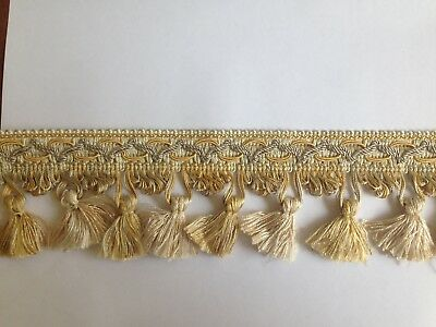 Silver and Gold Tassel Trim in 10 metre length