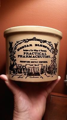 Vintage Apothecary Mortar Bluepill Crock Collectors Item Practical Pharmaceutist